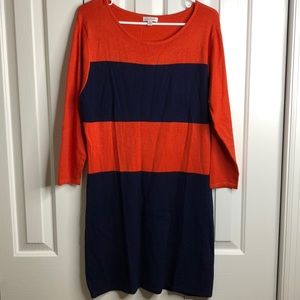 2/$12 NWT Charming Charlie red blue knit dress szL